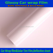 New glossy car vinyl wrap film with bubble freely