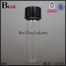 Medical,industrail assorted injection vials for sale, 5ml clear glass bottle with screw cap, chemical glass bottle accept paypal