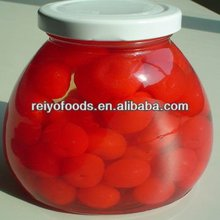 Canned cherries in syrup 580g tins jars plastics in China 2013