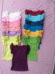Persnickety baby girls 100% cotton ruffle tops with tank sleeves