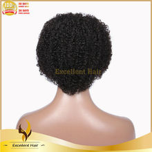 Hot Selling Short indian Full Lace Kinky Curly Wigs For African American Women