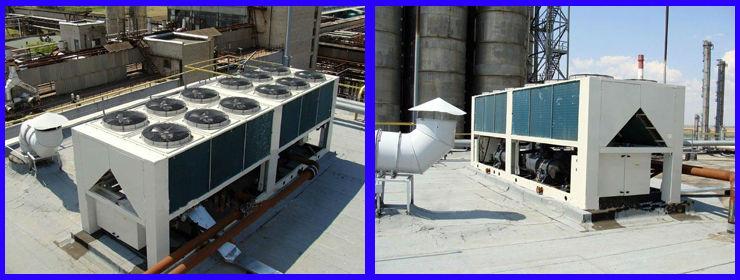 Ltlf 80 1000kw serie chiller luchtgekoelde water chiller schroef chiller met compressor voor - Water kamer model ...