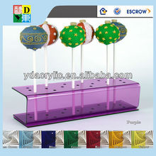 Good Quality Acrylic Lollipop Display Stand/Crystal Clear Acrylic Cake Pop Stand
