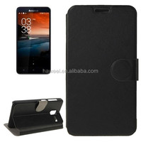 Crazy Horse Texture Horizontal Flip Magnetic Buckle Leather Case with Holder for Lenovo A850+(Black)
