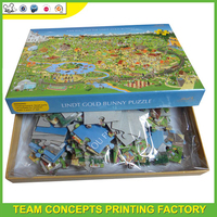 Custom paper 10000 piece jigsaw puzzle for adult