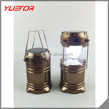 portable Hand Crank Solar 6 LED Lantern Outdoor multifunction USB Rechargeable Camping Light