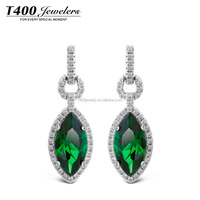 T400 Life Goddess Charm 925 Sterling Silver Earrings Elegant Jewelry With High-class Zirconia #2365