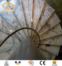 Indoor elegant fancy cast iron spiral stair