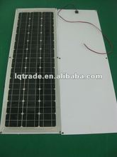 80W Semi Flexible Monocrystalline Silicon Solar Panel