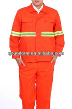 orange and green reflective two pieces construction man's dustman workwear uniform