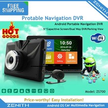 Portable android wifi DVR navigation device