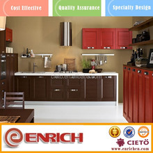 Blanco barato gloss pvc gabinete de cocina mdf puertas diseños simples
