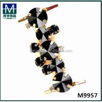 2015 stylish rhinestone shoelace charm for lady shoes decoration M9957