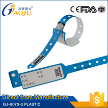 Direct from professional manufacturer most popular high quality plastic medical id bracelet