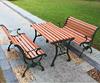 2015 popular metal antirust wpc wood garden park bench