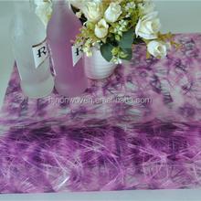 Gradient violet sizo floral nonwoven wrap or table decoration