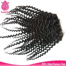 unprocessed mongolian kinky curly human hair lace frontal closure