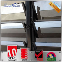 Exquisite reflective gray tinted aluminum shutter window with Alibaba trade assurance service