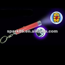 plastic led Torch keychain pop picture projections