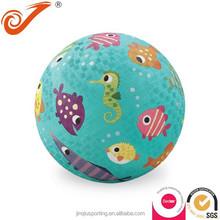 small soft rubber ball fish pattern high Bouncing rubber foam ball