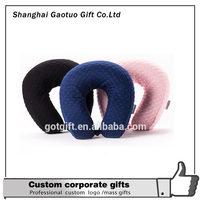 Factory High Quality Cotton Filled Adult Travel Pillow