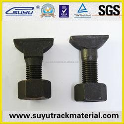 Railway equipments short clip bolts Q235 4.8