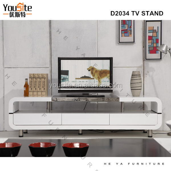 Living Room Lcd Tv Stand Wooden Model Furniture D2034