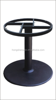 HS-A003B wrought iron table base With Cast iron Round frame top base for round table