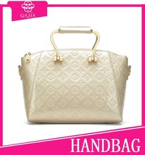 2015 wholesale made in china handbags manufacturer Gold embossed female bag