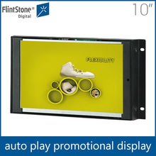 Flintstone 10 inch in-store transparent lcd display, long life span tft lcd digital player, hot open frame video player