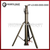 3.5m large Self-locking vehicle handle telescopic pneumatic light mast and pole