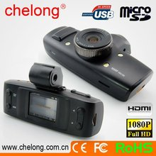 Shenzhen Chelong brand Ambarella Chip + G-sensor + GS1000 1080p car video recorder with gps