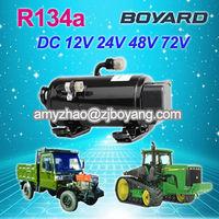boyang R134a 12v dc car a/c compressor electric automotive cab of the crane electric car