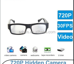 720P HD Plain Glass DV Camera, Eyewear recorder DV camera, Hidden Plain Glass DV Camera 500W pixel