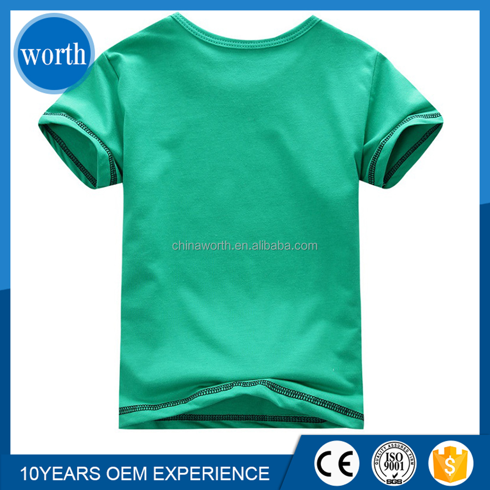 Green cotton fabric t shirt 95 polyester 5 spandex kid t for 95 cotton 5 elastane t shirt