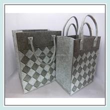 wholesale felt travel laundry bag with handles