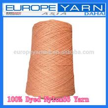 100% discontinuas de friso teñida hilado de nylon