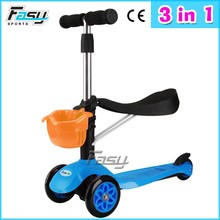Fasy three wheel scooters for 3 in 1 kick scooter