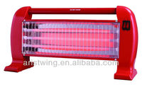 Quartz Heater With 3 Lamp In Max Power 1200w With Safety Tip-over Switch