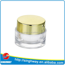 cosmetic clear PS packaging plastic jar with metallized cap