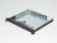 TOP black anodized aluminum 1U rackmount itx chassis inexpensive price