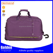 nylon fabric waterproof good quality mini trolley travel bag from factory direct sale wheeled trolley bag