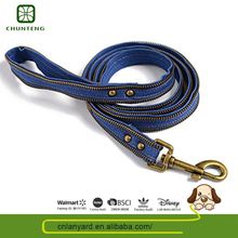 Make To Order Animal Accessories Comfortable Natural Color Pitbull Leashes And Collars