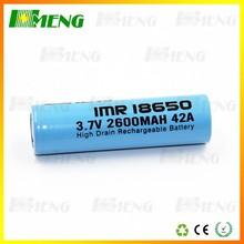 2015 Full Capacity Hmeng IMR 18650 3000mAh 42A 3.7V Rechargeable Battery A Grade Battery Wholesale