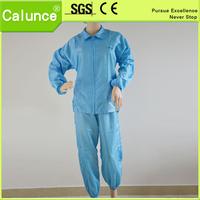 Anti static Blue stripes Lapel Smock /cleanroom/esd garment/cleanroom coverall