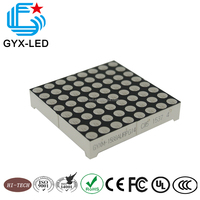 high reliability red and pure green bi color 8*8 LED dot matrix display