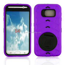 Rotating stand case with belt clip for Samsung Galaxy S6 G9200