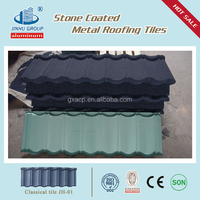 Outdoor canopy spanish roof stone coated metal roof tile factory in China