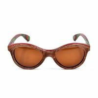 2015 New Trend Skateboard Wood Sunglasses Canada Maple With Polarization Or CR39 Lens Fashion Eyewear