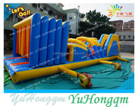 2014 new outdoor inflatable obstacle course equipment for kids paly or rental